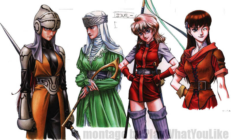 Brigandine_SRPG_female_warriors_knights_archers_queen