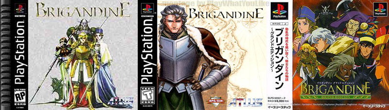 Brigandine_SRPG_various_playstation_covers